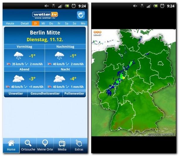 Ob Wetterinfos oder Regenradar: Alle wichtigen Daten sind übersichtlich zusammengefasst und lassen keine Wünsche offen.