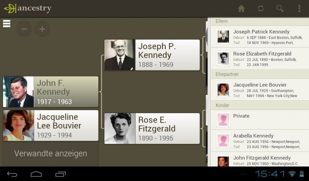 """Die Ancestry App eignet sich hervorragend zur """"mobilen"""" Familienforschung."""