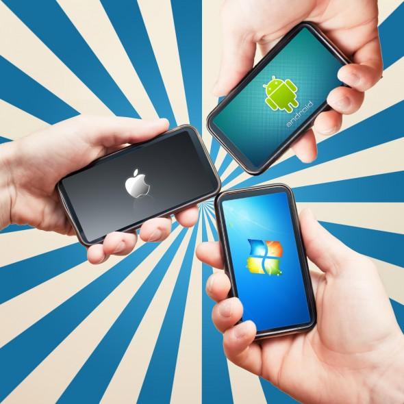 Google, Apple oder doch Microsoft? Wer wird sich im Jahr 2012 durchsetzen? (Foto: CDA Verlag)