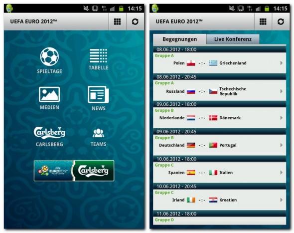 Zur UEFA EURO 2012 EM hat der offizielle Sponsor Carlsberg eine App auf den Markt gebracht. Diese schön gestaltete App bietet viele Features zur diesjährigen Europameisterschaft.