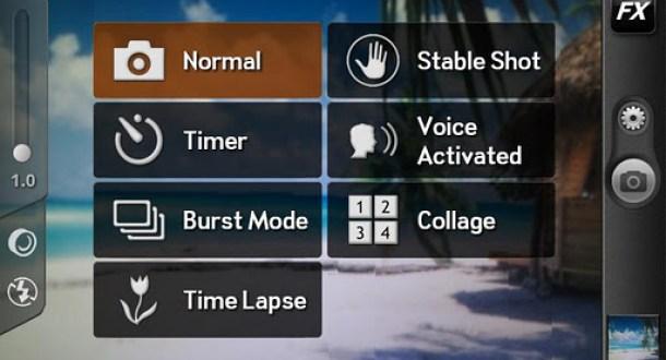 Kamera ZOOM FX bietet verschiedene Features, wie einen Selbstauslöser oder einen Bildstabilisator - so wird das Smartphone schon fast zur Digicam.