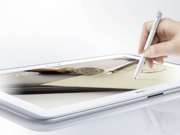 Mit der mitgelieferten S Pen kann man Zeichnungen, Notizen und Skizzen leicht erstellen. Foto: Samsung.