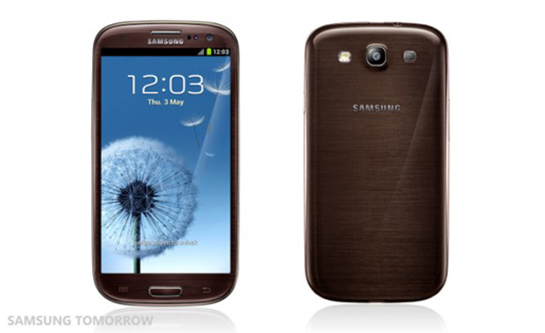 Das Samsung Galaxy S 3 in der braunen Farbversion. Foto: Samsung Tomorrow.