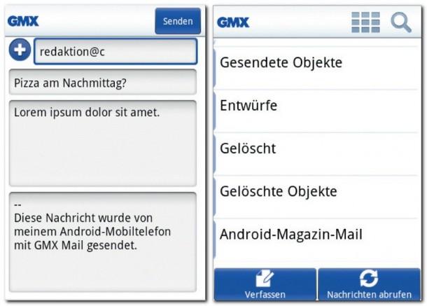 Übersichtliche Mailfunktion, reduziert auf das Wichtigste, dazu sehr Userfreundlich. Dank der App GMX Mail kann man ohne großen Aufwand komfortabel auf GMX-E-Mail-Kontos zuzugreifen.