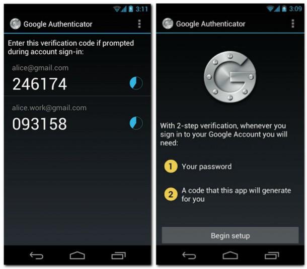 Der Google Authenticater ermögicht eine doppelte Autentifizierung des Nutzers beim Login zu einem Google Service, die App kann kostenlos im Play Store heruntergeladen werden.