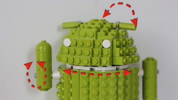 Der Kopf, die Ohren und die Hände der Lego Android Figur sollen beweglich sein. Foto:  Lego Cuusoo.