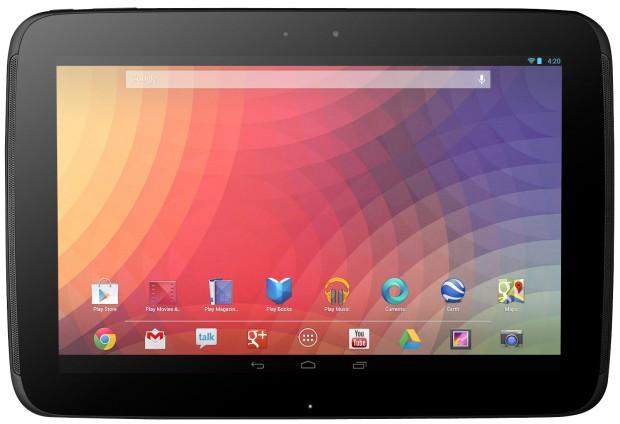 Das Nexus 10 ist ab sofort wieder im Play Store erhältlich. Foto: Google.