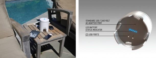 Das Portable Power-Ladegerät bietet eine Energiequelle für bis zu vier Geräte gleichzeitig. (Foto: Kickstarter)