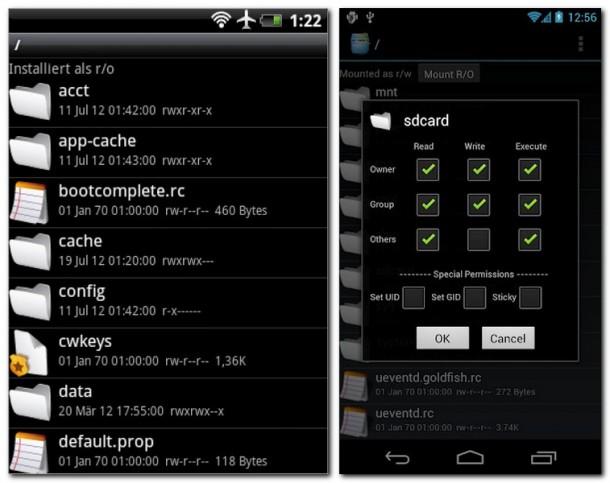 Der Root Explorer verwaltet Dateien und unterstützt gerootete Smartphones.