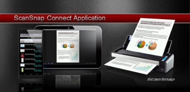 Mit dem Einzugscanner Snapscan S1300i bringt Fujitsu einen Scanner mit Android Unterstützung auf den Markt. Foto: Fujitsu.com.