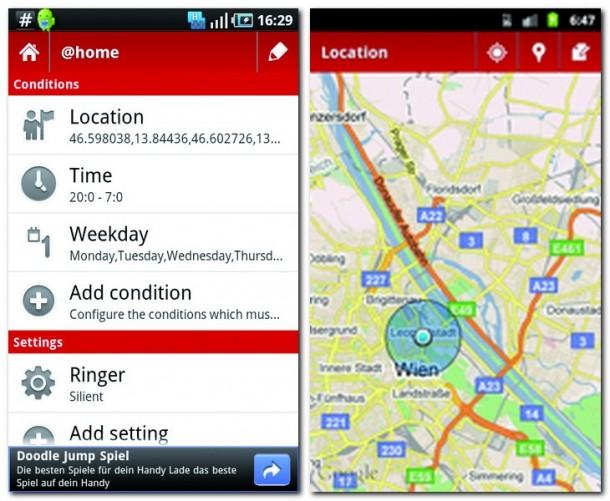 Sie können sich entspannt zurücklehnen, denn Smart Phone Lite managt Ihre Profile ganz von selbst.