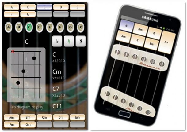 Ein Tab auf den gewählten Akkord spielt diesen ab. Die App Solo verwandelt Ihr Smartphone in eine akustische oder elektrische Gitarre.