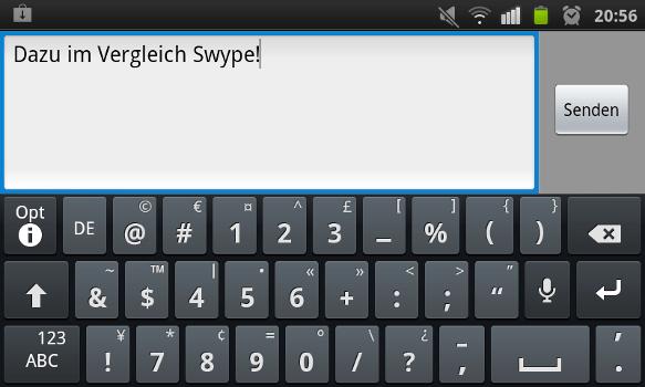 Die Standard-App Swype
