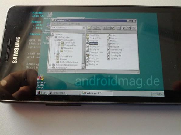 Windows 95 auf Android Galaxy S2