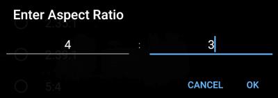 Enter Aspect Ratio