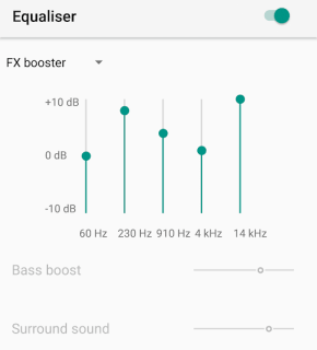 Equalizer in YouTube Music