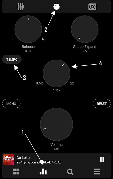 Tempo Slider for Poweramp