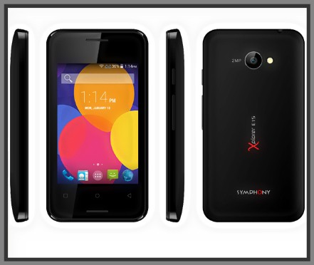 Symphony E15 Mobile Specifications & Price