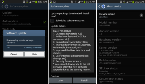 install android update