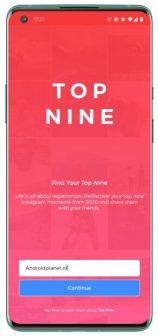 Top Nine-app