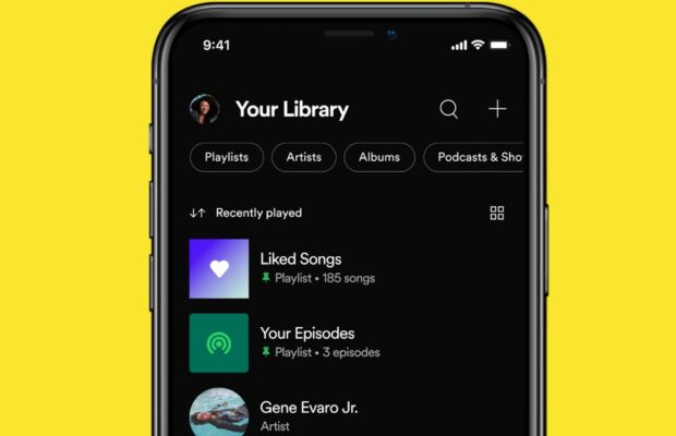 Spotify redesign library