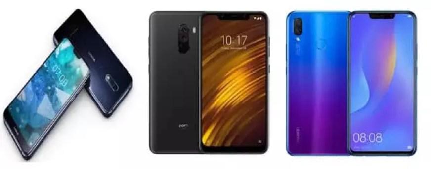 Nokia 7.1 vs Pocophone F1 vs Huawei Nova 3i