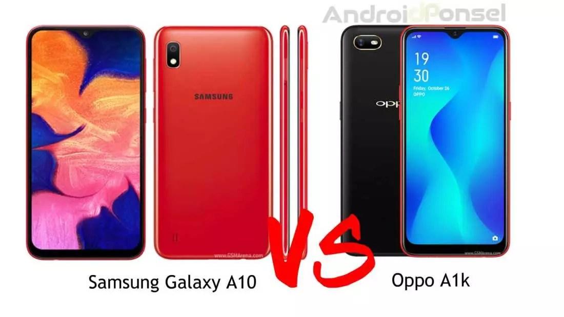 Galaxy A10 vs Oppo A1k