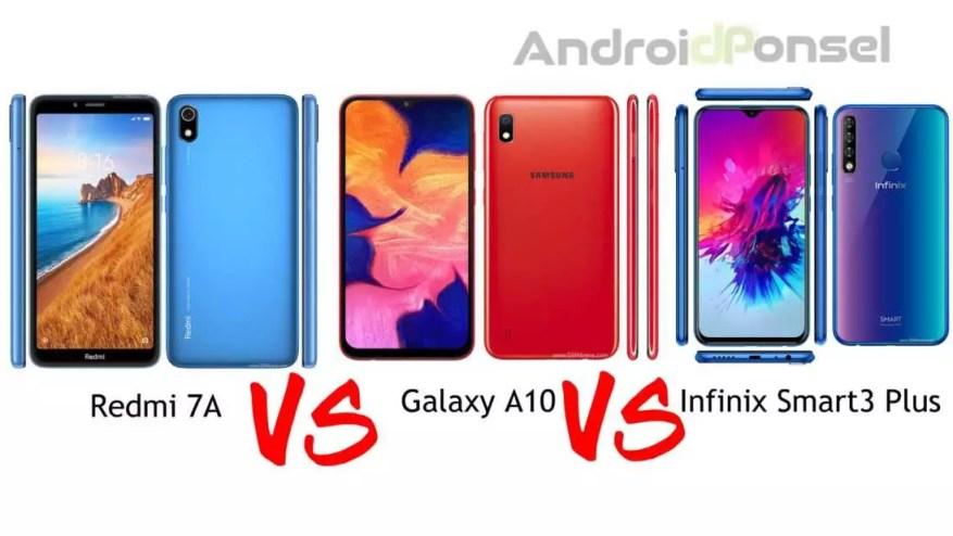 Redmi 7A VS Samsung Galaxy A10 VS Infinix Smart3 Plus, Mana yang Terbaik?