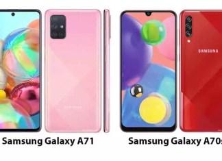 Perbandingan spesifikasi Galaxy A71 vs Galaxy A70s