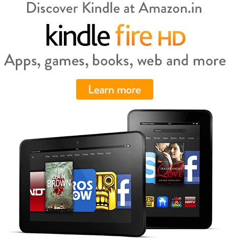 Amazon India Kindle fire HD