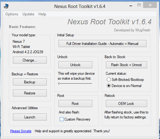 Nexus 7 Root Tool Kit - How to manually install official Android 4.3 firmware on Nexus 7