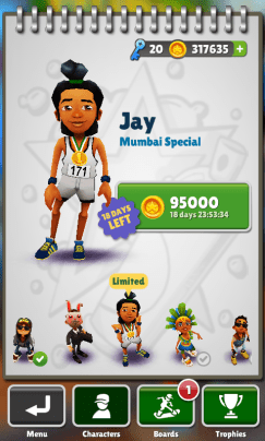 Subway Surfers Mumbai Unlock Jay