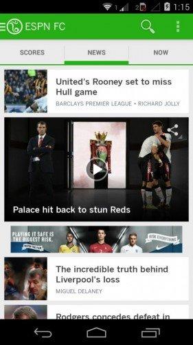 ESPN FC News Tab