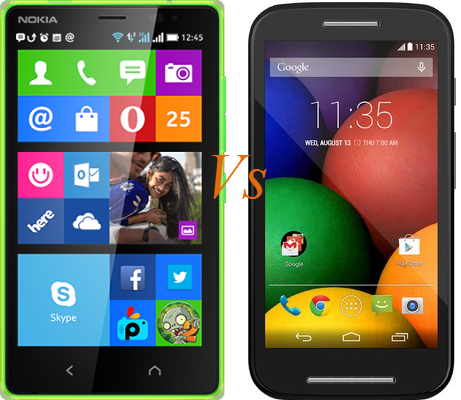 Nokia-X2 vs Moto E