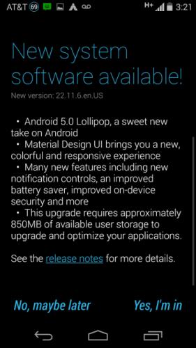 Moto G 2nd Gen Android Lollipop OTA Soak Test 2