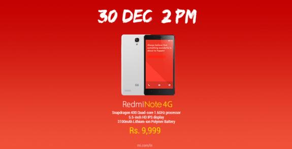 Redmi Note 4G India