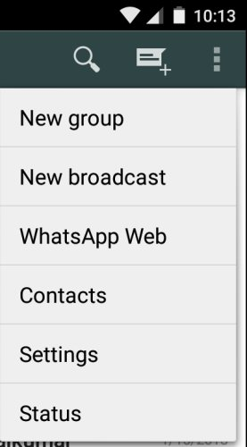WhatsApp Web Button Android