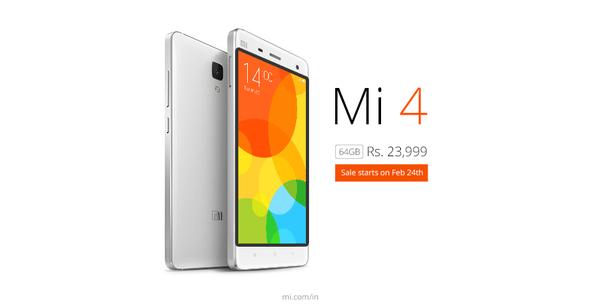 Xiaomi Mi 4 64 GB India