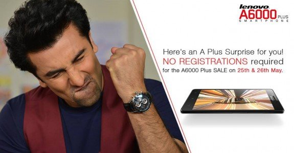 Lenovo A6000 Plus Open Sale India
