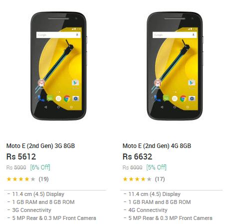 Motorola Snapdeal Moto E 2015
