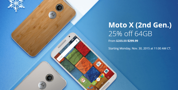 Moto X 2nd Gen discount sale Black Friday 2015