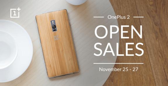 OnePlus 2 Open Sale November 2015 India