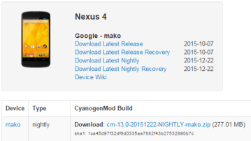 Nexus 4 cyanogenmod 13 - Cyanogenmod 13 nightly for Nexus 4 released