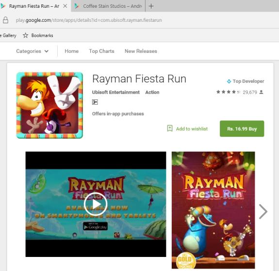 Rayman Fiesta Run Android Xmas Sale