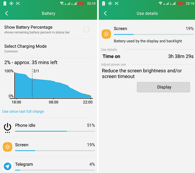 Coolpad Battery Life