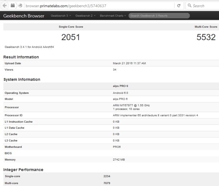 Meizu Pro 6 benchmark