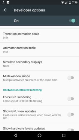 Pure Nexus 6 Multi-window settings