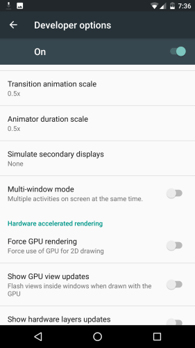 Pure Nexus 6 Multi-window settings