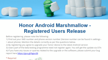 Honor 4X Marshmallow - Honor 4X Marshmallow OTA update to roll out soon