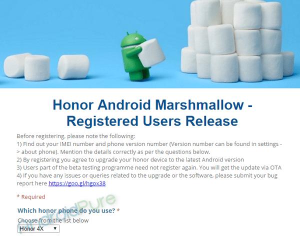 Honor 4X Marshmallow
